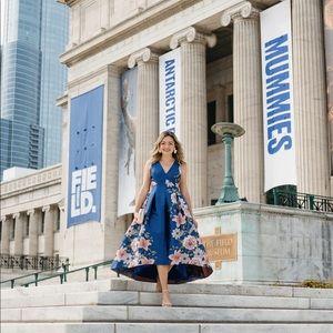 Eliza J Floral Fit & Flare Dress - Size 6